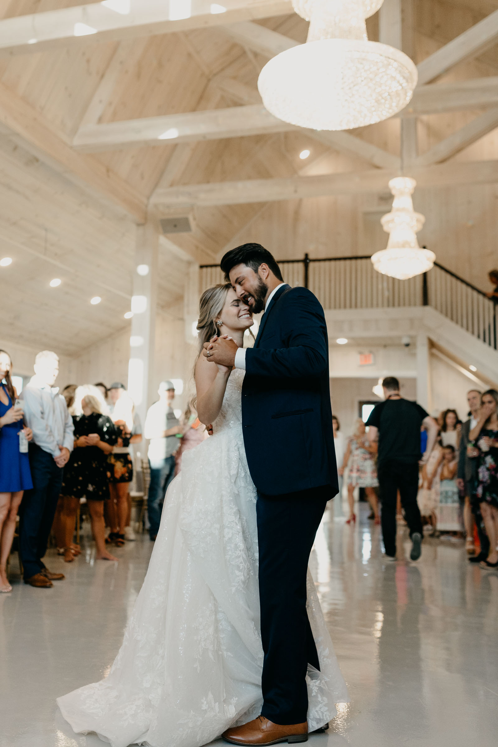 bride and groom sharing first dance in DFW