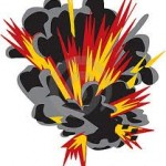 bomb explodid