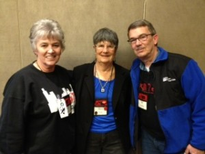 Sharon, me, and Bill Hopkins at 2013 Love is Murder Conference
