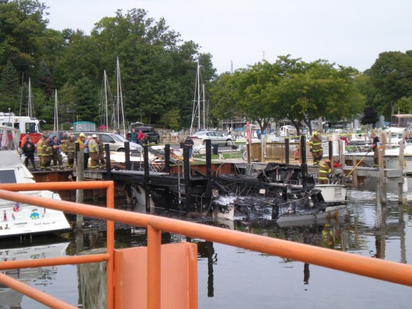 boat slip after explosion, picture taken by Steve Henley