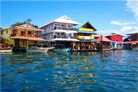 The town of Bocas del Toro