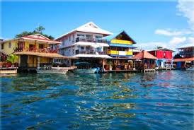 The town of Bocas del Toro