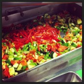 #Ensalata being prepared for the #ValleyCafe (@ejane27)