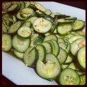 """Ooi muchim, the Korean spicy cucumber salad"" (@ejane27)"