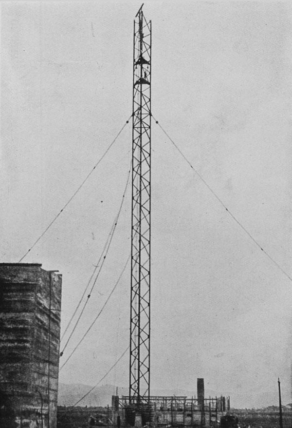 The progress of the North Auckland wireless station: the mast at Kaitaia carried to a height of 200 feet