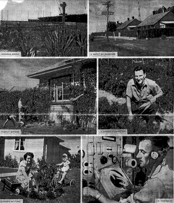 Photos of Awarua Radio ZLB from NZ Free Lance 1953
