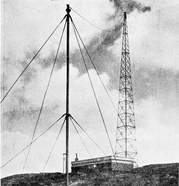 Steel lattice mast at Wellington wireless station erected in 1923