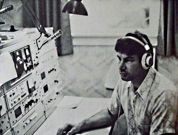 Awarua Radio operator Roland (Roly) Ernst in the 1980s