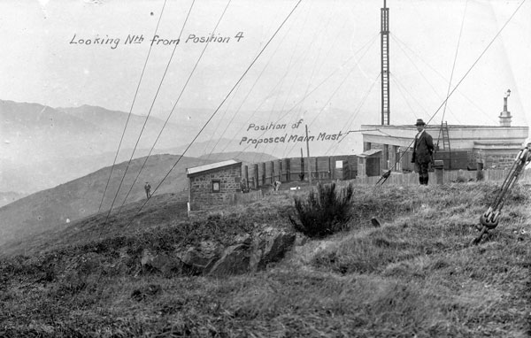 An early view of the Wellington Radio site on Tinakori Hill