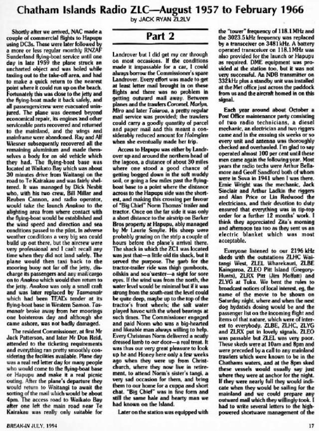 Jack Ryan remembers ZLC 1957-1966, part 6