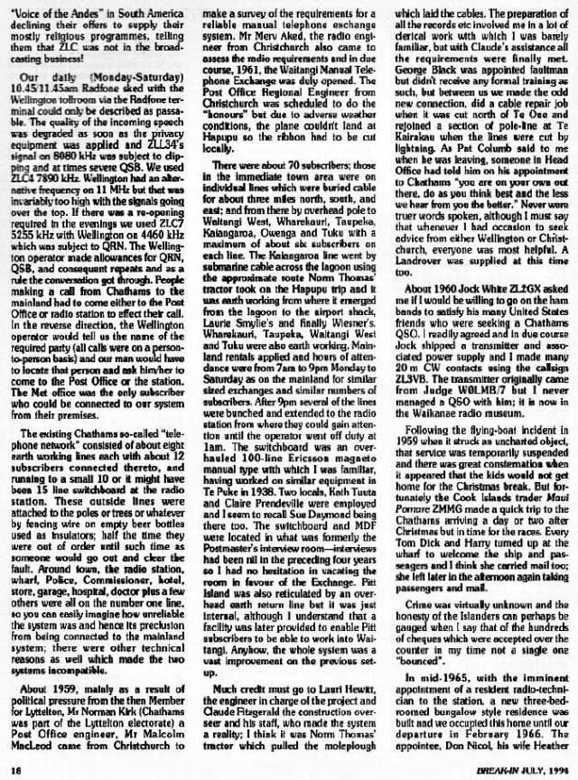 Jack Ryan remembers ZLC 1957-1966, part 7