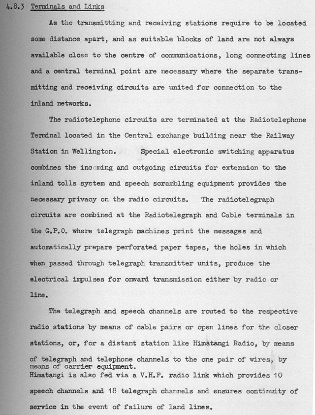 1960 description of Radio Telegraph and Radio Telephone centre