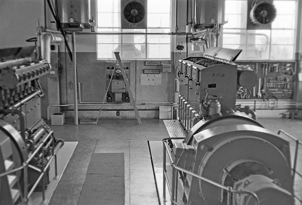 Another view of the two Mirrlees engines in 1974