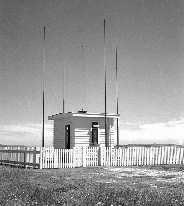 HF Direction Finding hut no. 2 at Awarua Radio