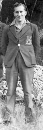 Jack Bonisch in the Chatham Islands, 1944