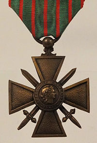 A French Croix de Guerre medal from World War 1
