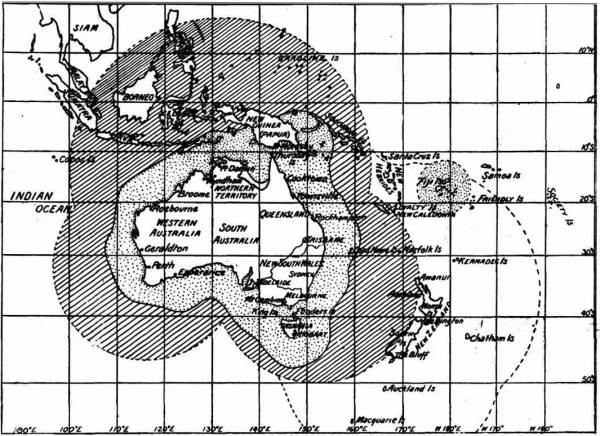 Map of the Australasian wireless system in 1914
