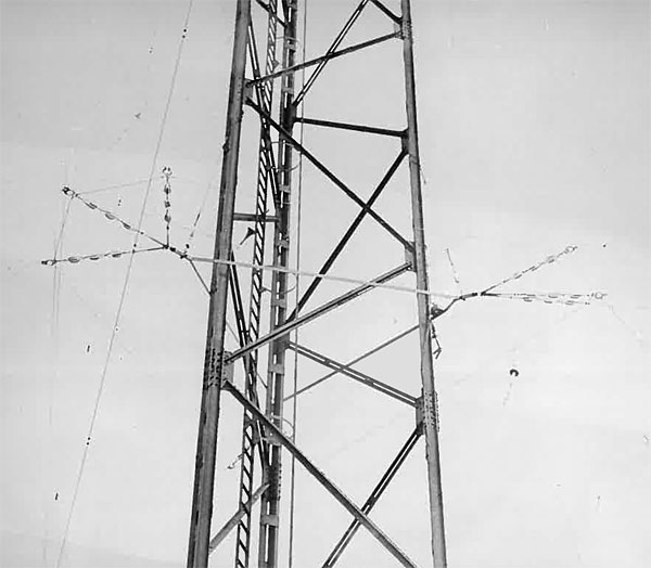 The counterpoise attachments at Awanui Radio