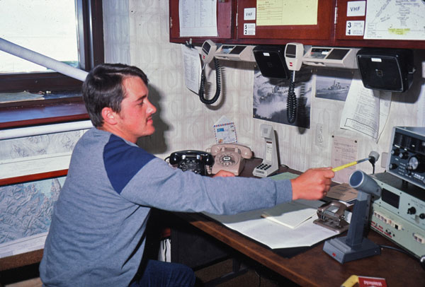 Scott Base radio room 1985-1986