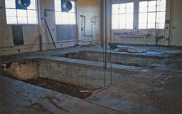 Empty engine room at the former Himatangi Radio