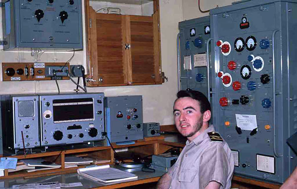 Radio Officer Ron Moloney aboard Kaimiro ZMEC in Feb or Mar 1963