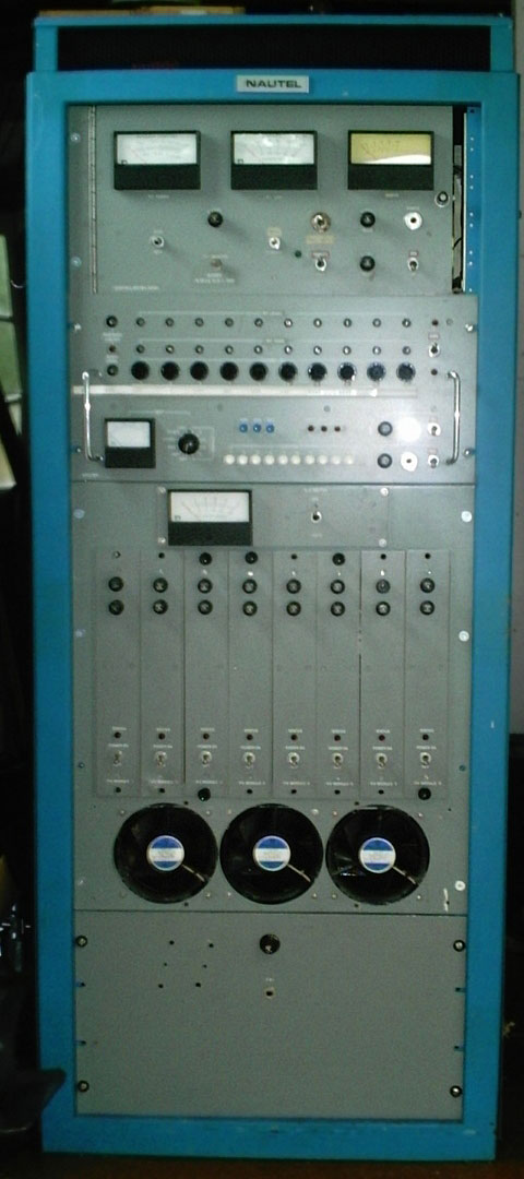 Canadian-built Nautel single sideband transmitter installed at ZLW around 1974