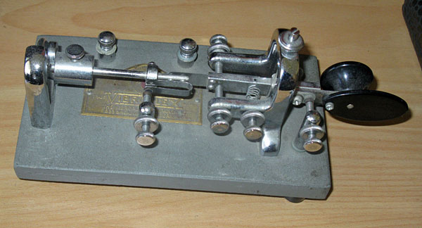 Clyde's Vibroplex 'Original' bug (semi-automatic telegraph key)