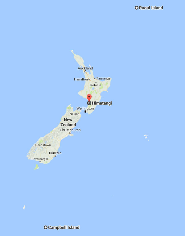 Himatangi Radio (transmission) and Makara Radio (reception) near Wellington provided the radio links to Raoul and Campbell Islands