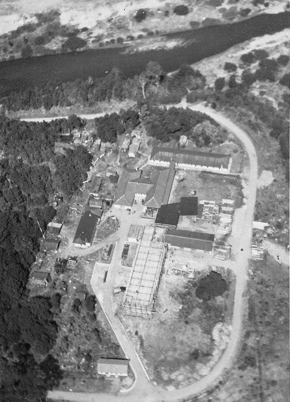 Reconstruction of the hotel at Milford Sound in early 1953
