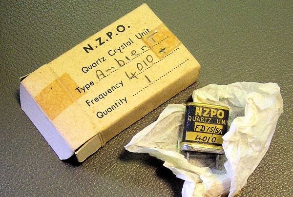 NZPO radio crystal and box
