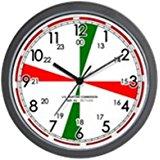 Radio room clock by Cafe Press