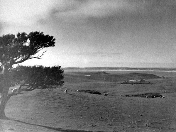 Looking north over Chatham Islands Radio ZLC, c1944