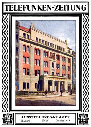 Telefunken-Zeitung 1919 cover