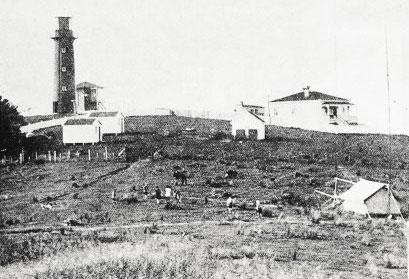 A tent at Tiritiri Matangi Lighthouse, 28 May 1924