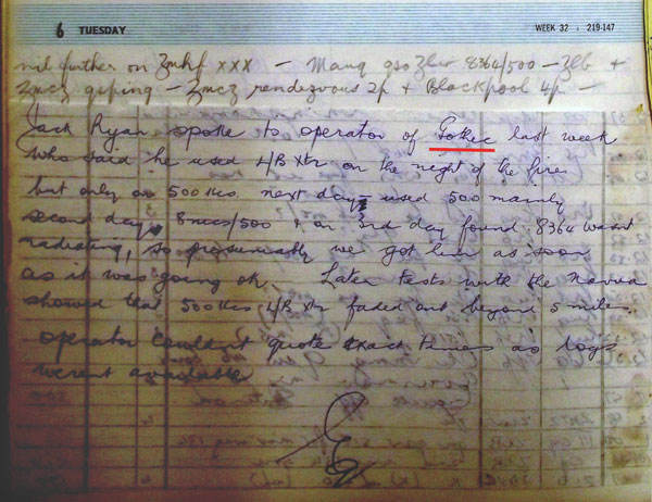 Awarua Radio ZLB log entry for 6 August notes that MAUQ (SS Gothic) had been in communication with ZLW (Wellington Radio) on 8364 and 500 kHz.