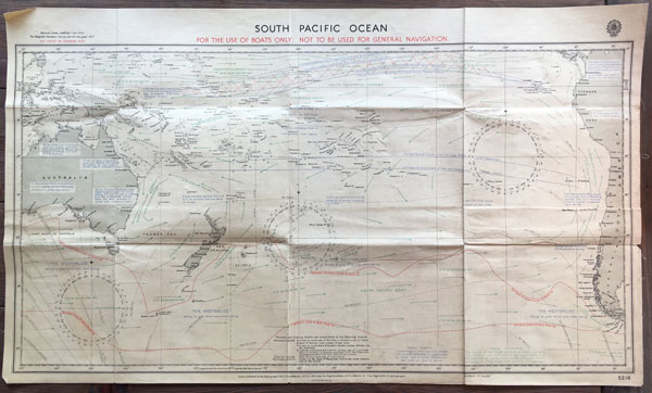 The Lifeboat Chart that was almost certainly used to navigate Gothic back to New Zealand