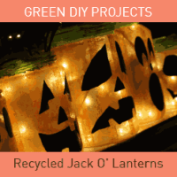 DIY Family Craft - Recycled Jack O'Lanterns