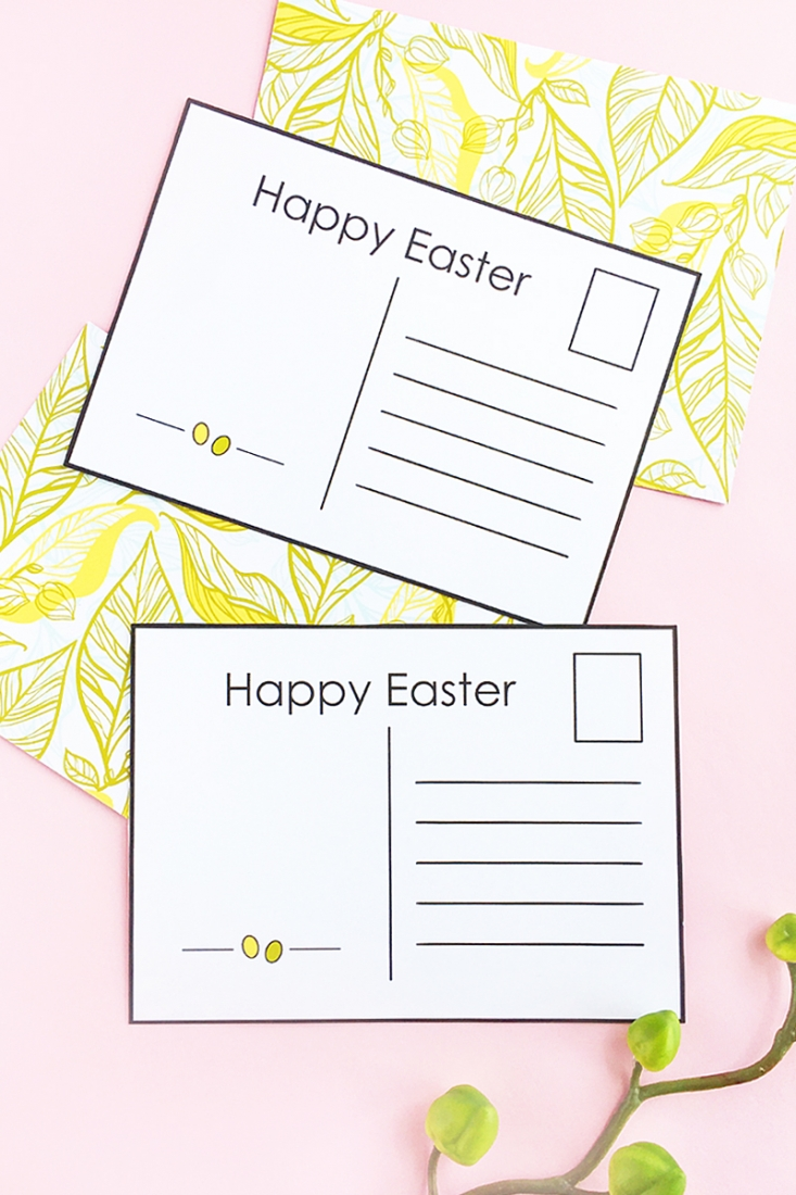 photo about Printable Postcards Free identify Do it yourself Easter Postcards (No cost Printable)Maritza Lisa