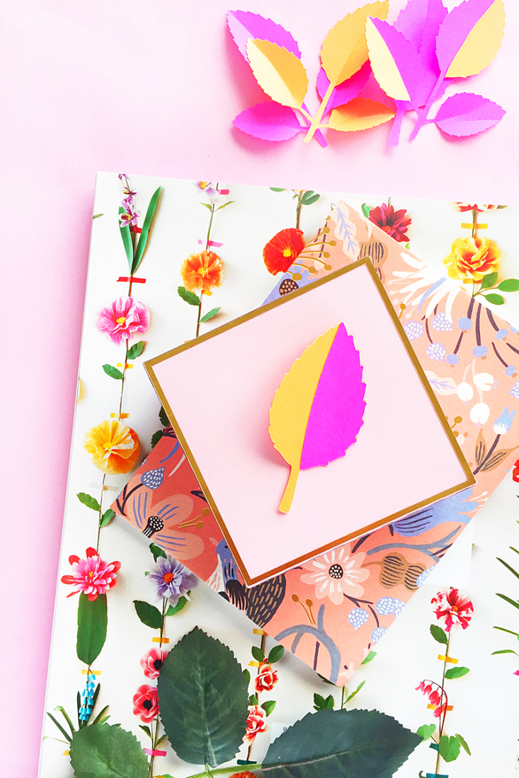 DIY 3d Paper Leaf Gift Toppers - Add a little dimension to your packaging with this quick and easy arts and crafts tutorial on Maritza Lisa!