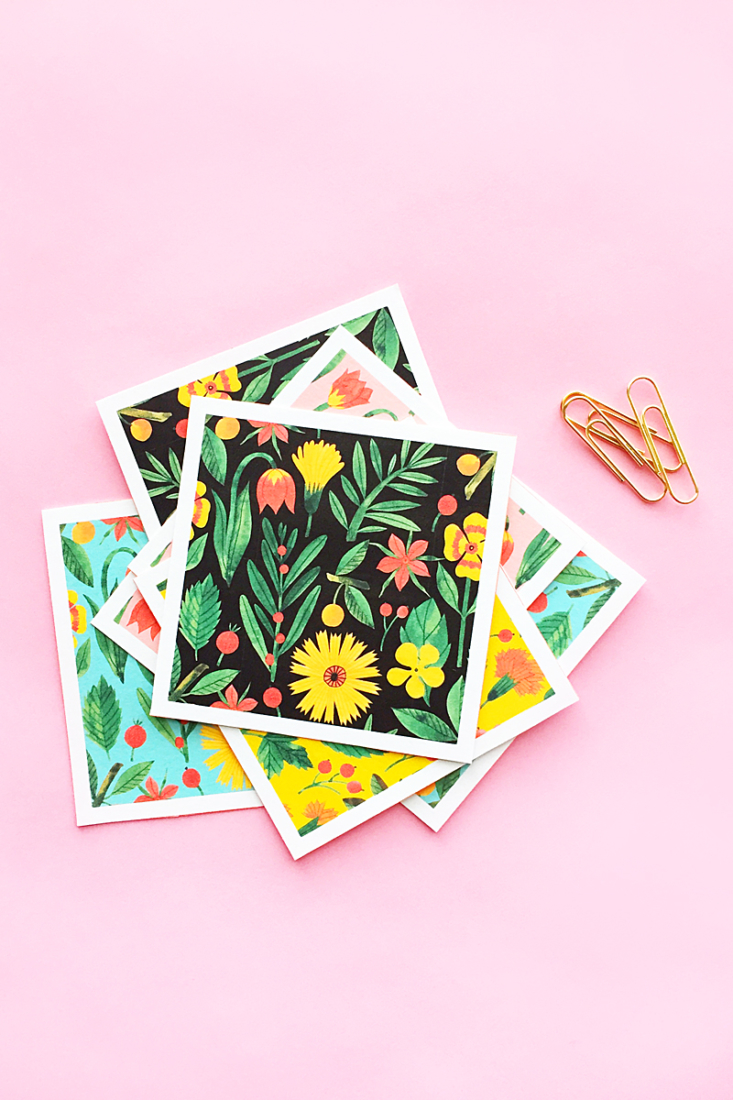 Easy Pretty DIY Botanical Notecards on Maritza Lisa - Make your pretty floral stationery with this quick and easy tutorial! #diy #tutorial #stationery #crafts #floral