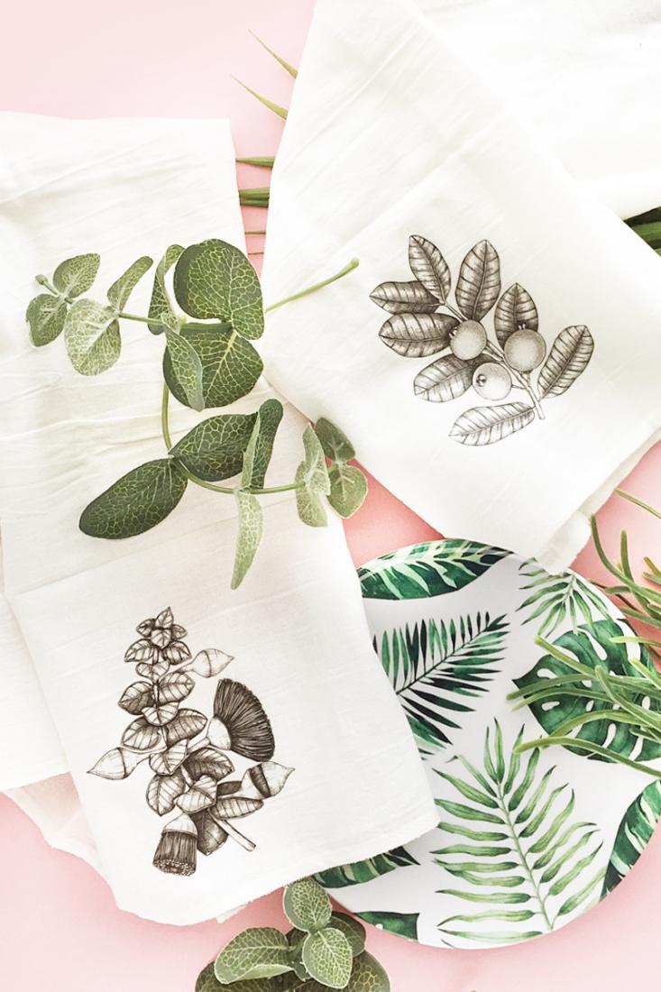 DIY Eucalyptus and Guava Flour Sack Towels