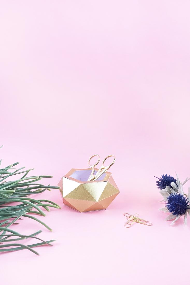 DIY Gold Paper Pots