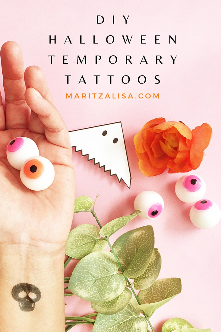 DIY Temporary Tattoos For Halloween