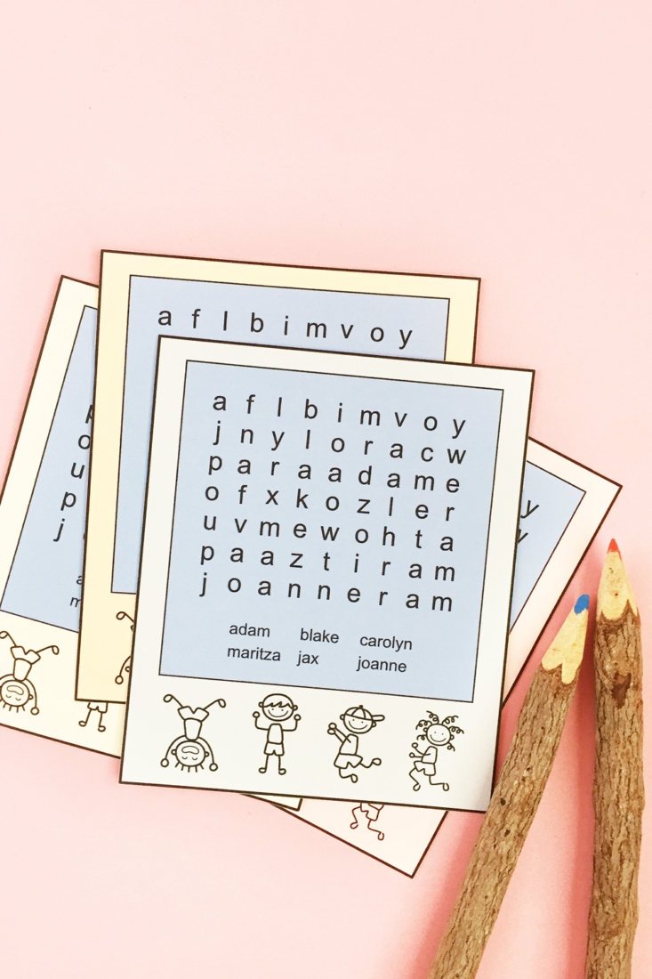 Word Search For Kids – Family Member Names
