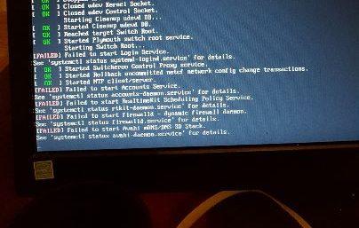 Fehlermeldung von system-logind und anderen Diensten