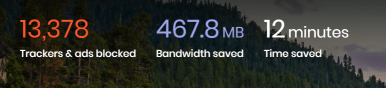 After two weeks of surfing the internet the Brave Browser has protected me against more than 13000 trackers and ads.