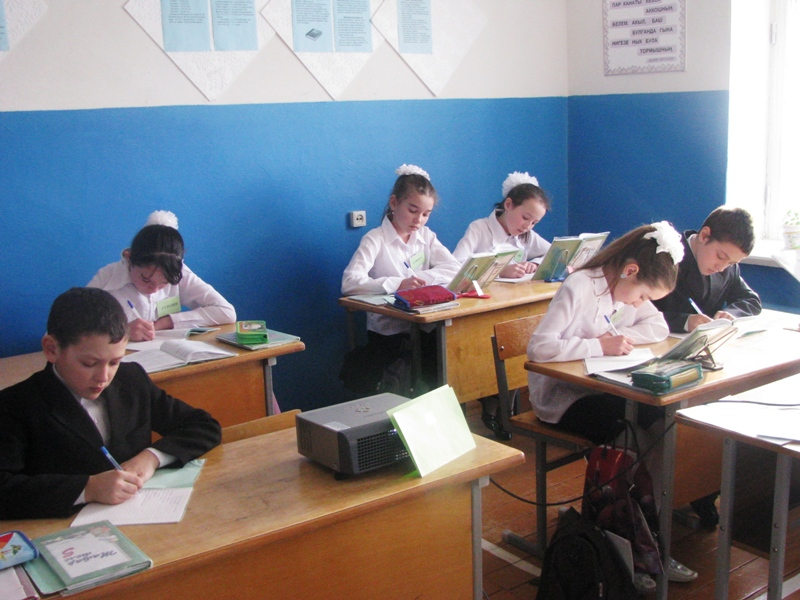 Урок татарского языка в школе