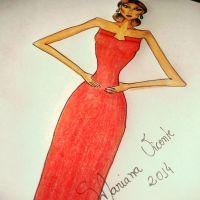 Croqui de Moda: Vestido Vermelho