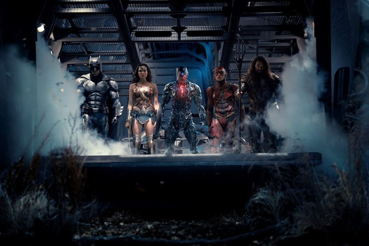 Batman, Wonder Woman, Cyborg, The Flash, Aquaman