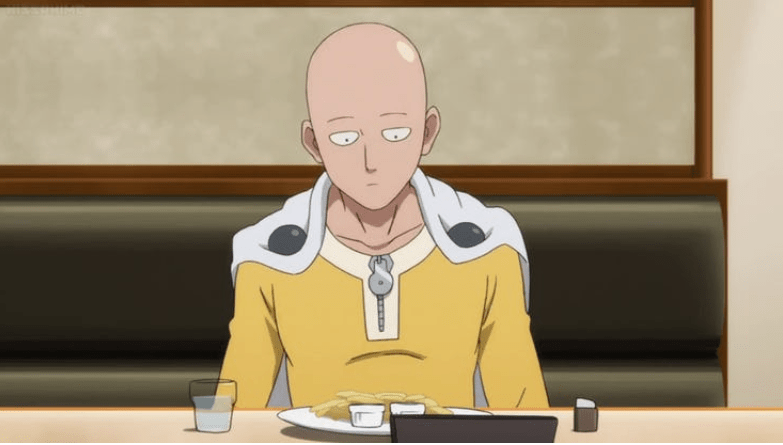 fakta mengenai Saitama memakan kentang goreng